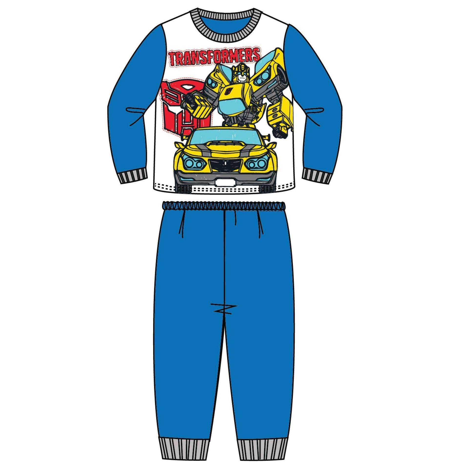 Transformers Children Kids Pajamas Homewear For Age 1yrs To 5yrs 100% Cotton - White Blue