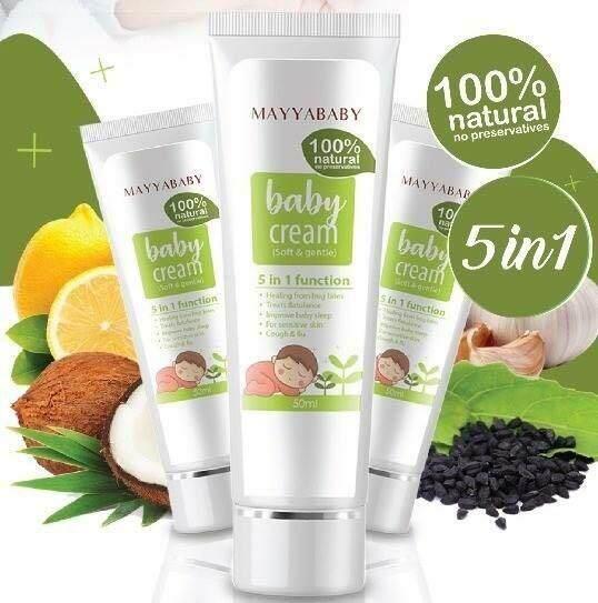 Mayya Baby Cream 5 in 1 function 50ml ~ Mayyababy Cream 妈咪必备圣品宝宝神奇霜