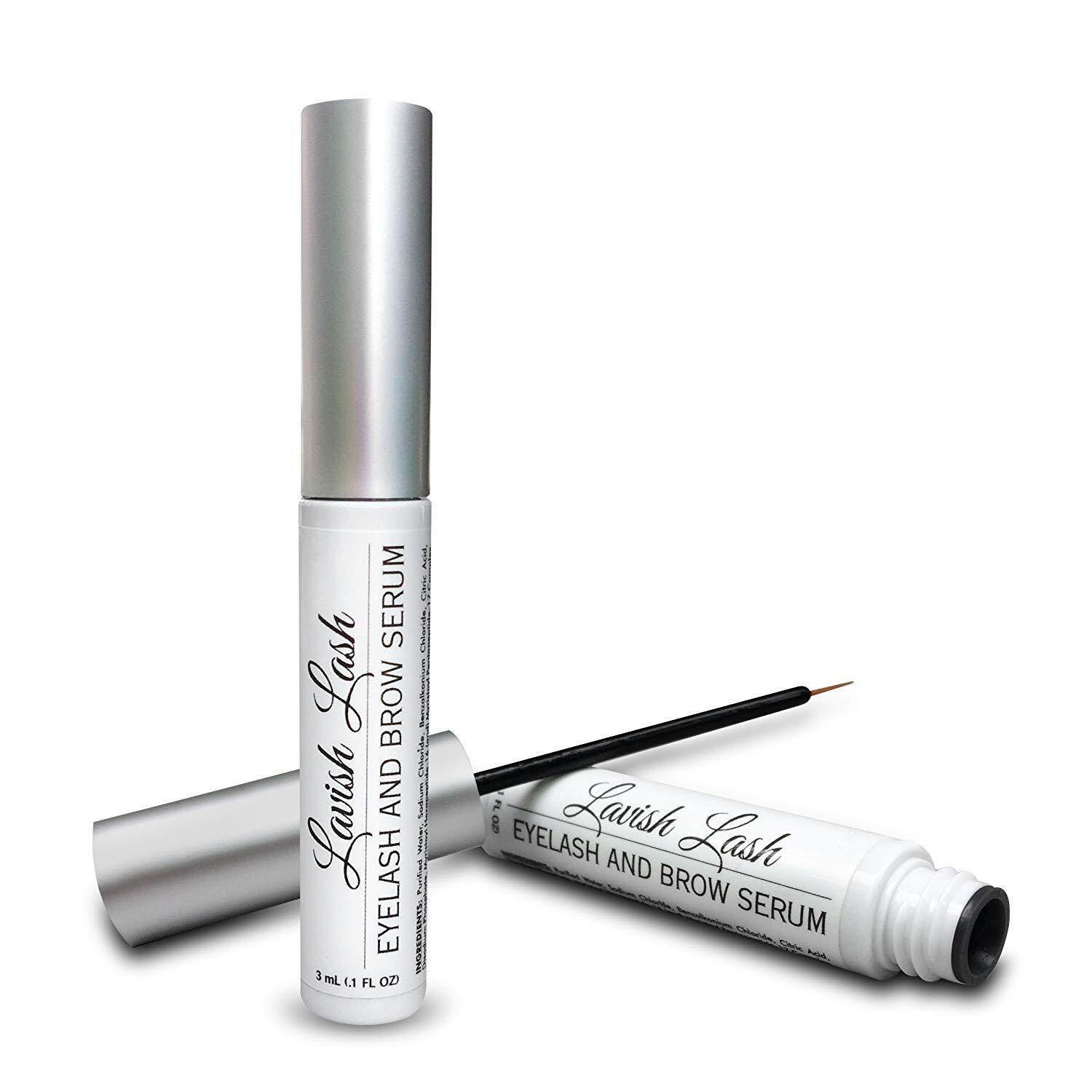 Hairgenics Lavish Lash – Eyelash Growth Enhancer & Brow Serum for Long, Luscious Lashes and Eyebrows