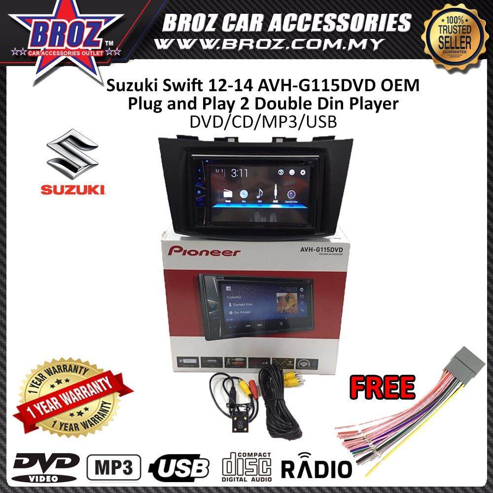 "Suzuki Swift 2012-2016 Pioneer AVH-G115DVD OEM Plug and Play 6.2"" Double Din XNRC PIONEER COLOR"
