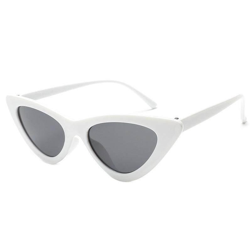 Wanita Retro Mata Kucing Mode Kacamata Hitam Klasik Segitiga Wanita Kacamata Hitam -