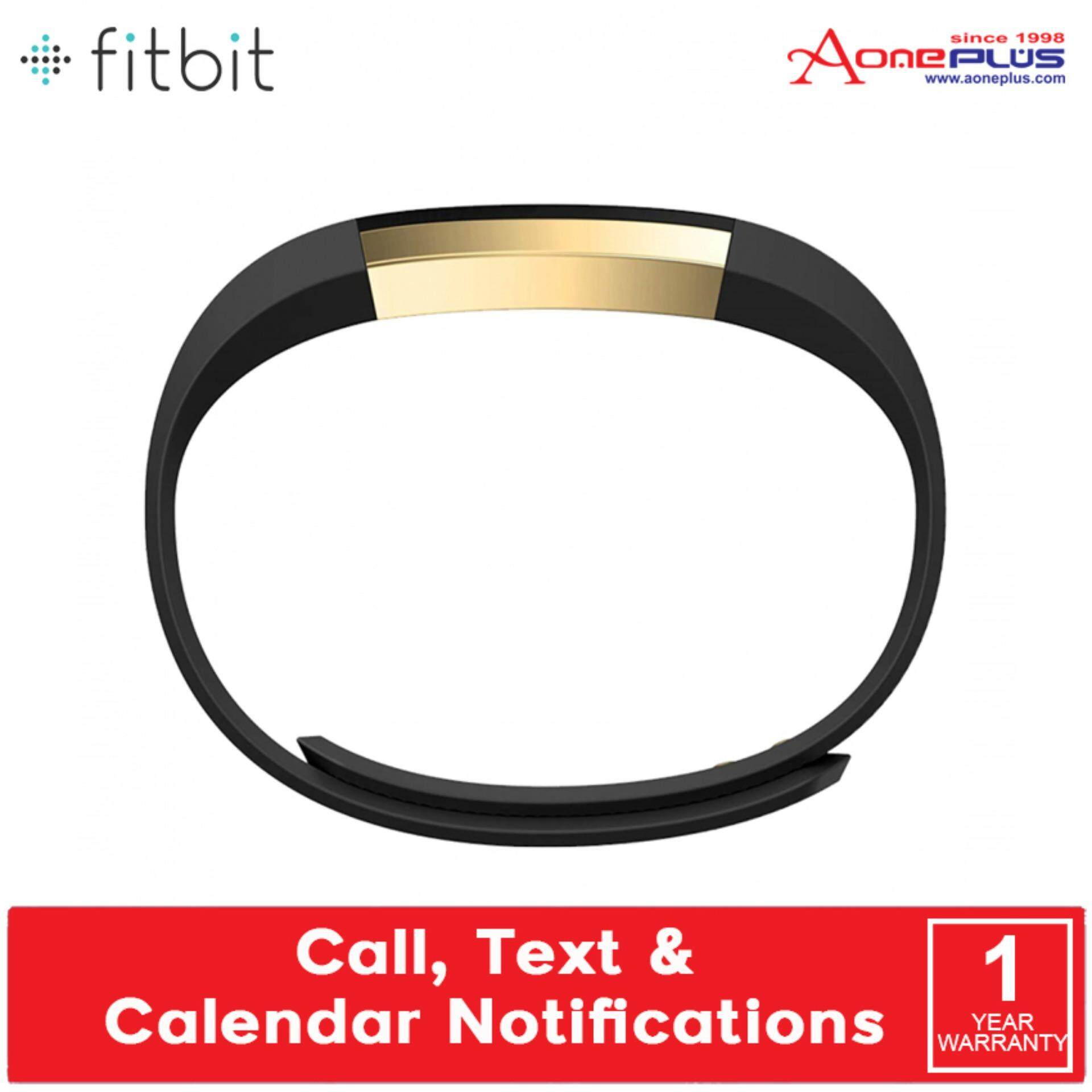 Fitbit Alta Fitness Tracking Wristband Activity FB406GBK Gold Black (Small/Large)