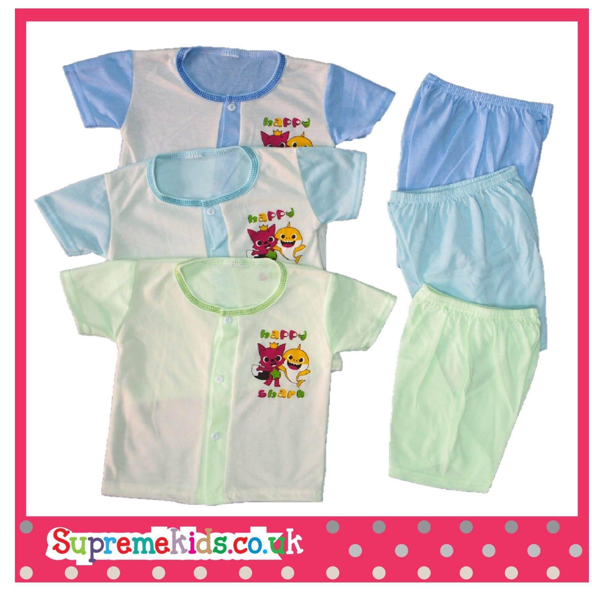 BabyShark & Pink Fong 6Pcs NewBorn Baby Casual wear SSSP