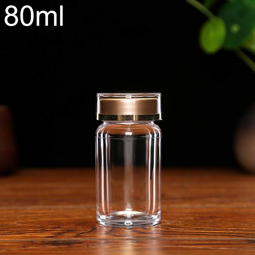 e820efa8fb7f Upsee 80ml Portable Clear Small Medicine Bottle Empty Small Vial Storage  Container