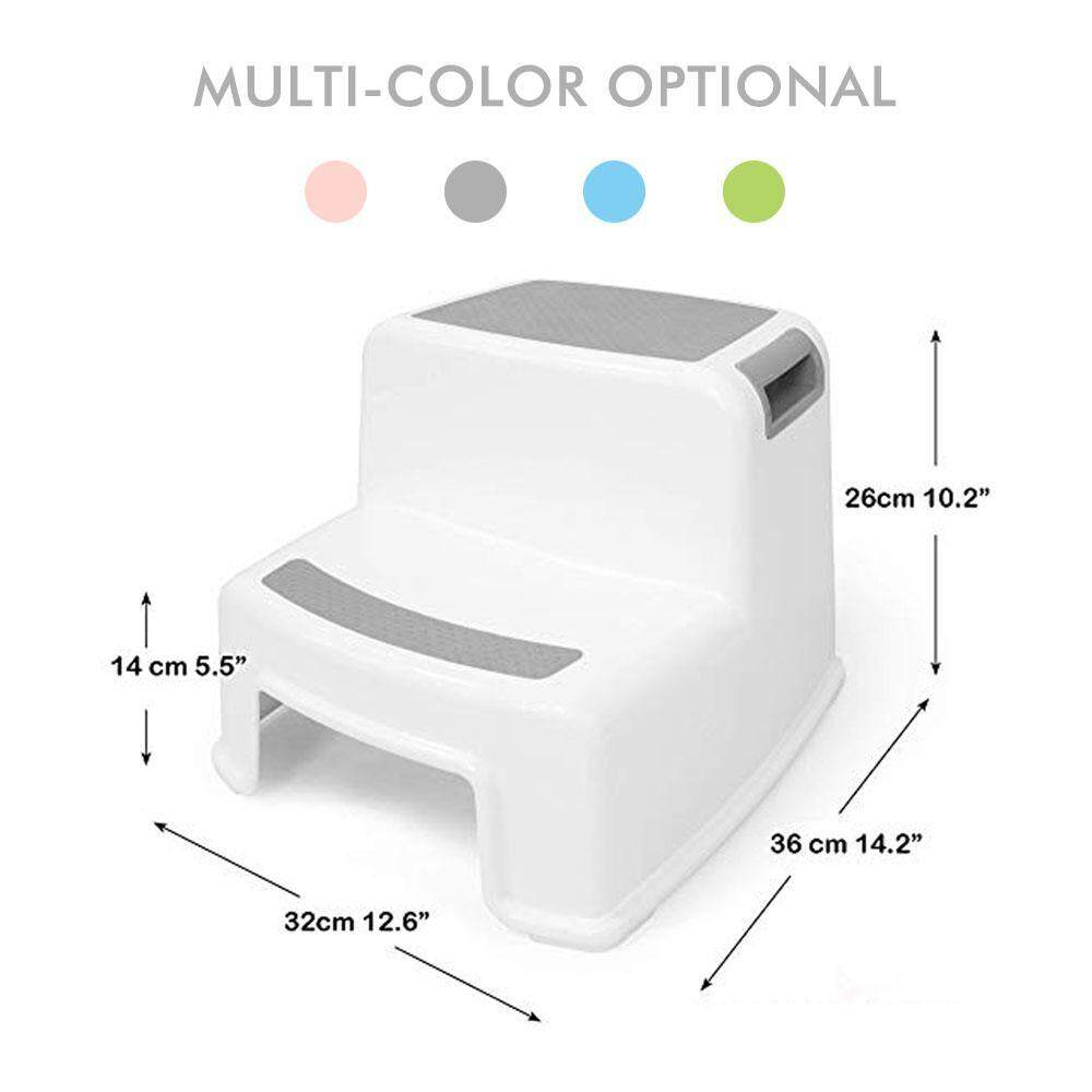 Enjoyable Flyupward 2 Step Stool For Toddlers And Kids Dual Height Step Stool For Bathroom Kitchen And Toilet Potty Training Design With Anti Slip Rubber For Beatyapartments Chair Design Images Beatyapartmentscom