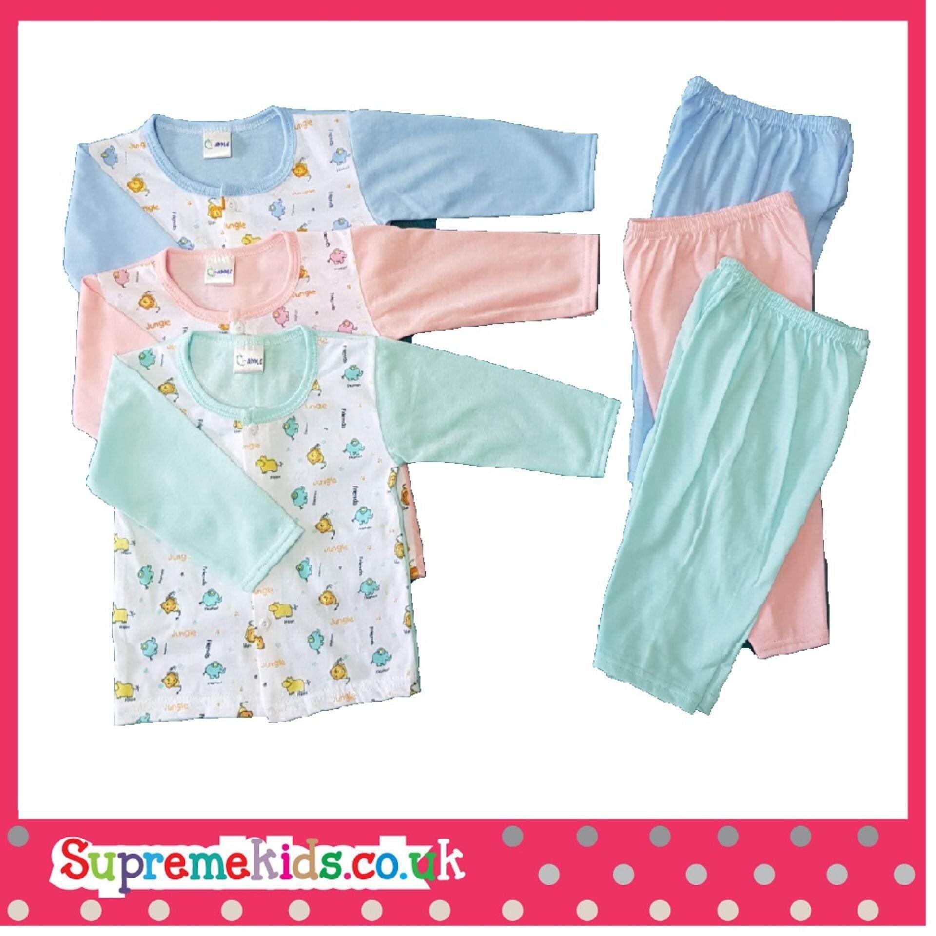 Newborn & Baby 3 SET Full Printing Pajamas -303 (Fit to Age: 6-18Mth Mass:8-12kg Height:69-80CM)