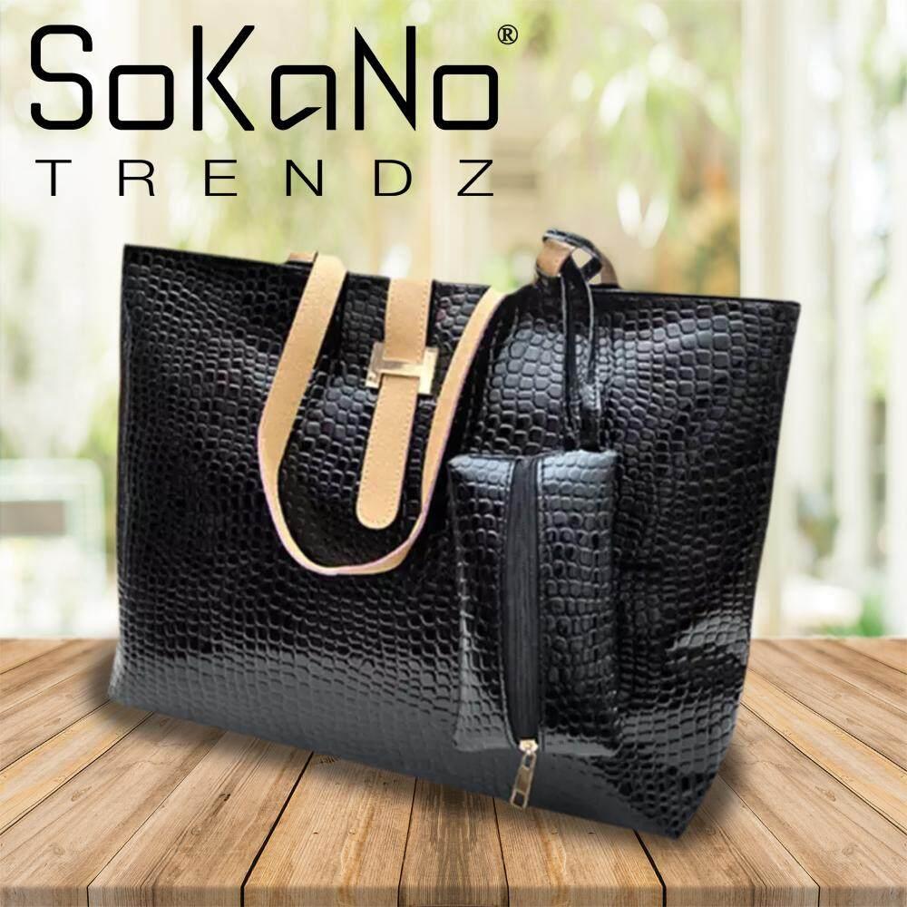 (RAYA 2019) SoKaNo Trendz Textured Leather Handbag Black