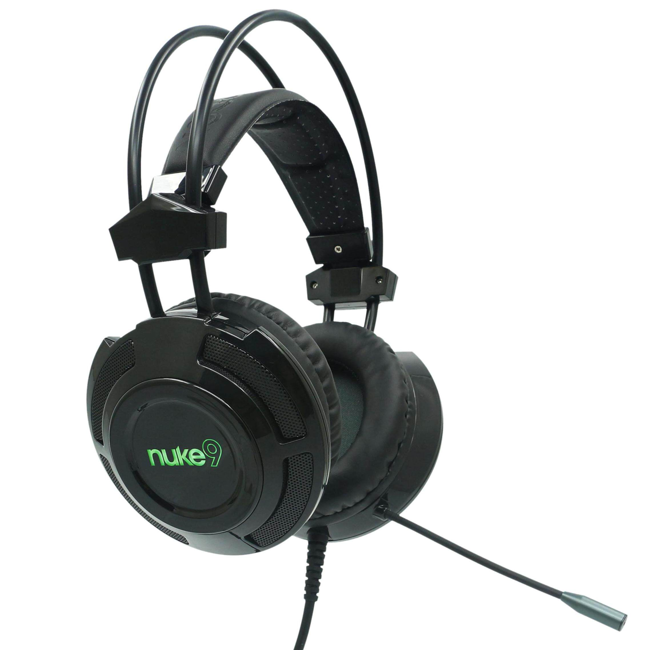 Armaggeddon Nuke 9 2018 Edition Over-ear Gaming 7.1 Surround Headset USB Audio Cable 7 Color LED Effect Headphone with Mic
