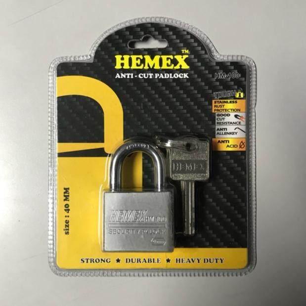 [100% ORIGINAL] HEMEX HEAVY DUTY BRASS ANTI-CUT PAD LOCK (MADE IN THAILAND)