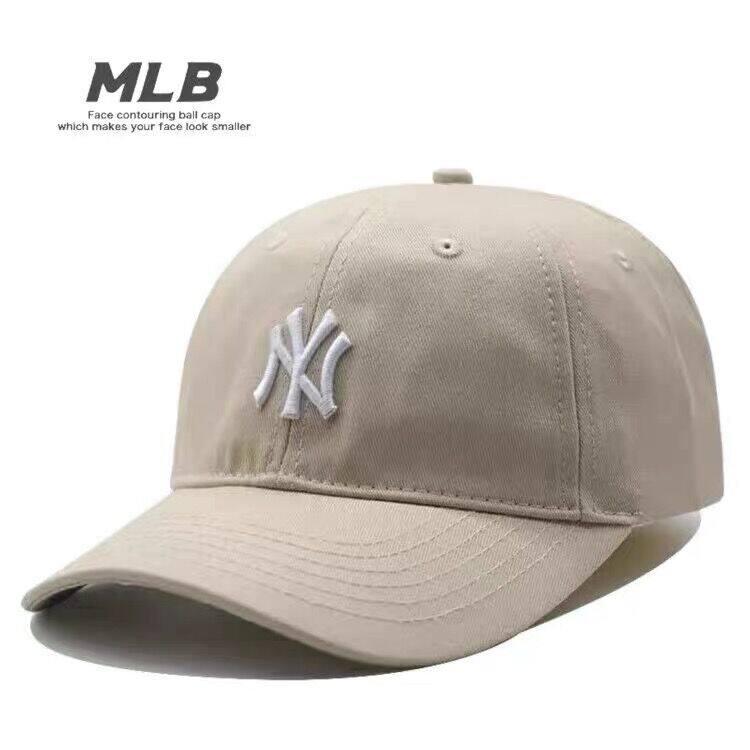Mũ MLB Mũ Bóng Chày, Mái Hiên Cong Ny Yankees Cho Nữ, Yn Mũ Lưỡi Trai Mềm Logo Nhỏ Màu Xanh Dương Mới Cho Mùa Xuân Và Mùa Hè