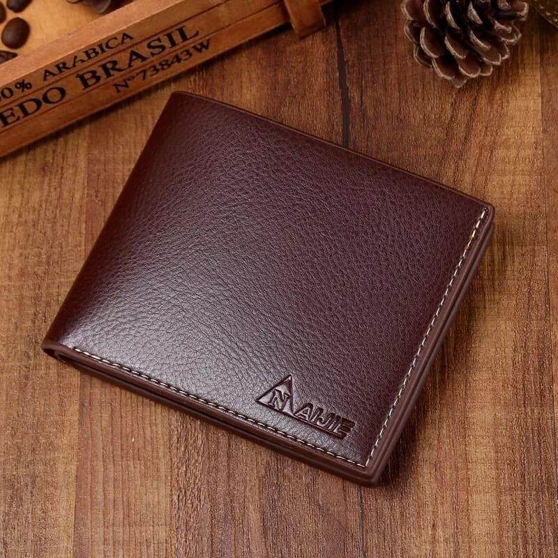 [READY STOCK] 2019 Korean Series Men\'s Fashion Wallet Bi-Fold Fengshui Wallet Europe Designer Perfect Gift (Come With Box) Clutch Card Coins Cash Slot With Zip Portable Hand Carry Bag Luxury Top Material Genuine Leather Halal Dompet Kulit