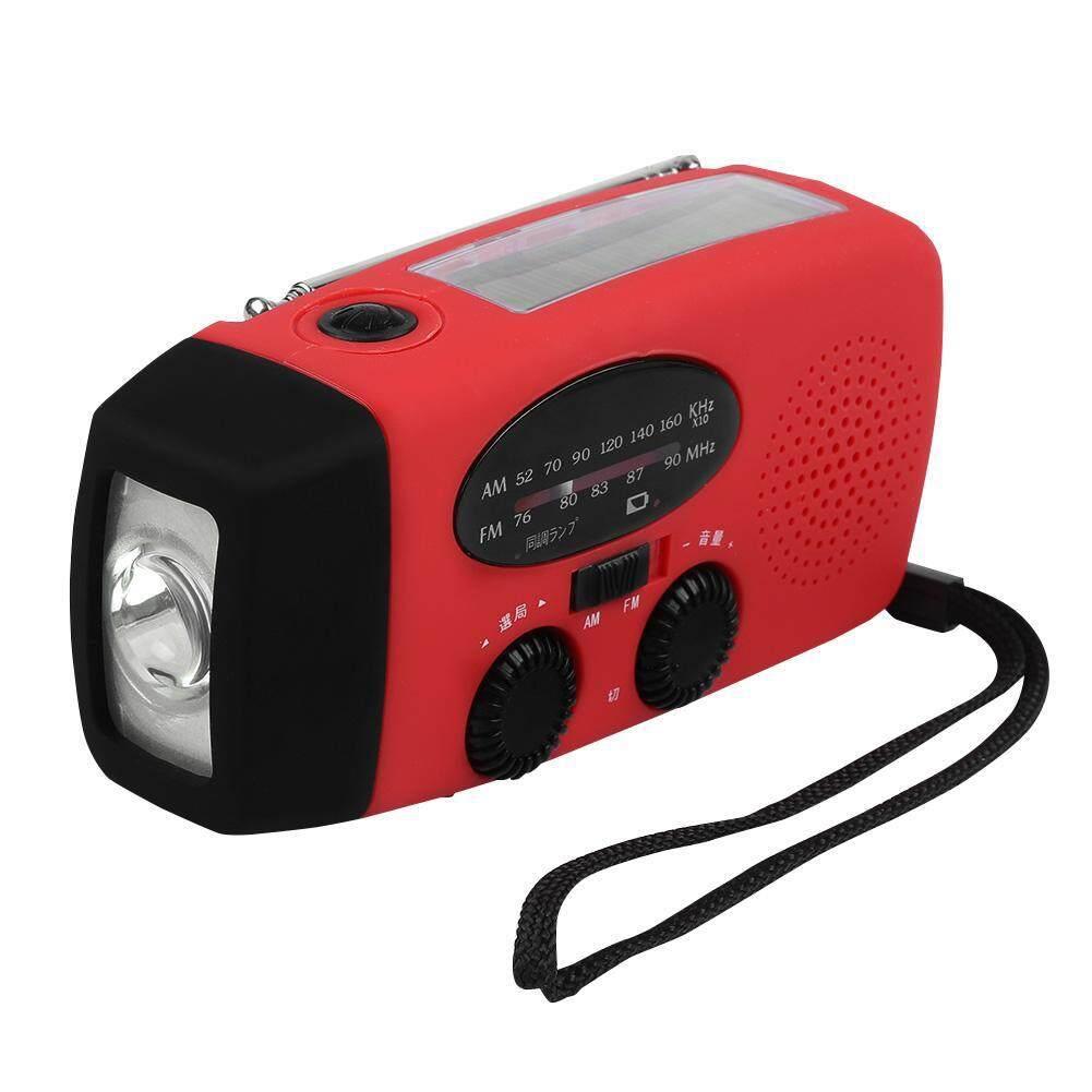 Speakers - Outdoor Solar Hand Crank Weather Radio LED Flashlight