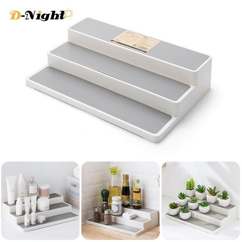 D Night 3 Layers Cosmetics Display Stand Holder Shelf Kitchen Shelf Spice Jars Storage Rack Organizer