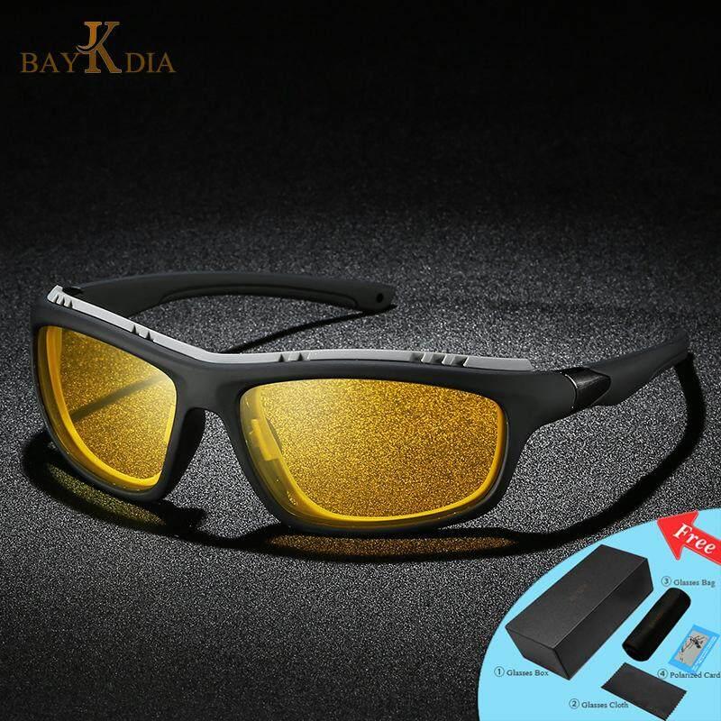 Baykdia Merek Kacamata Hitam Terpolarisasi Pria Modus Malam Mengemudi Bersepeda Goggle Olahraga Kacamata 5327