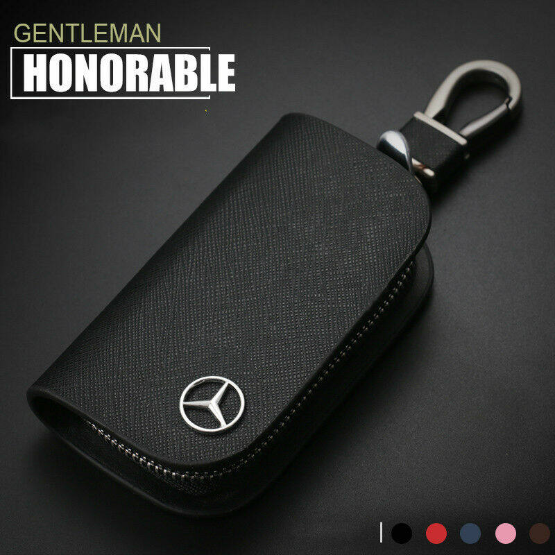 Keyring CLA Stainless steel silver colored // black original Mercedes-Benz