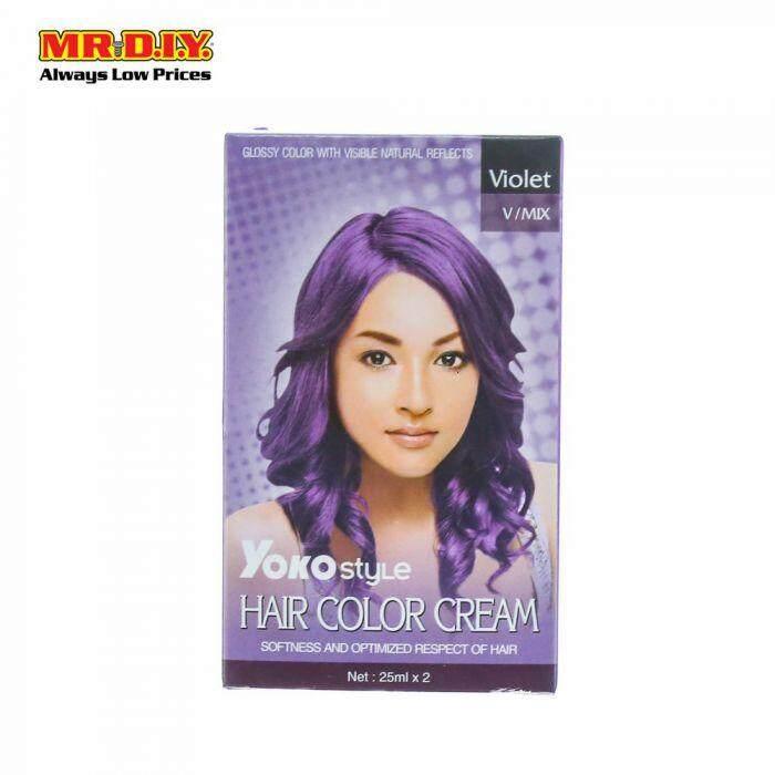 (violet) yoko style hair colour cream (halal) 30ml all colour available