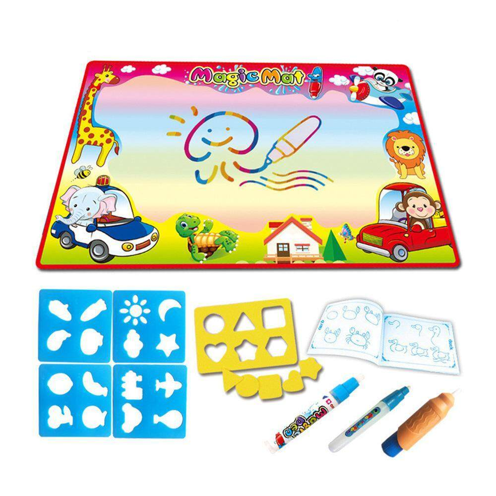 Tohoney Water Doodle Mat Kids Toys Large Aqua Mat Toddlers Painting Coloring Pad With 4 Colors Gifts For Girls Boys Age 2 3 4 5 Years Old 2