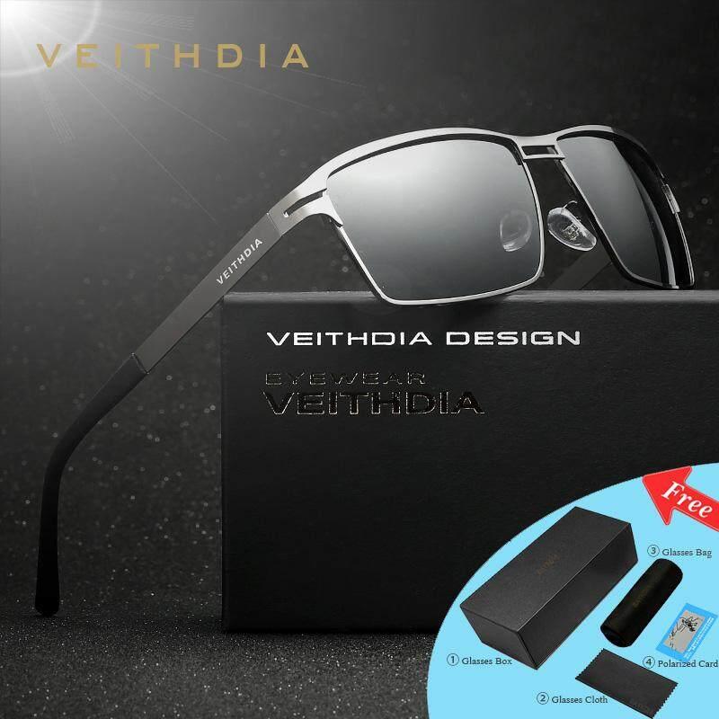 VEITHDIA Logam Persegi Kacamata Hitam Terpolarisasi untuk Kacamata Mengemudi Pria