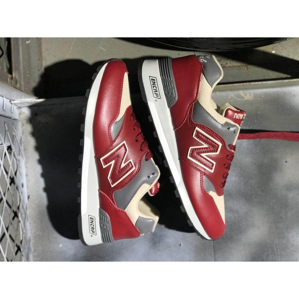 ยี่ห้อนี้ดีไหม  ศรีสะเกษ NEW NEW BALANCE 577 nb577 สีแดงชุดกีฬาวิ่งสตรีรองเท้าขนาด 36-44