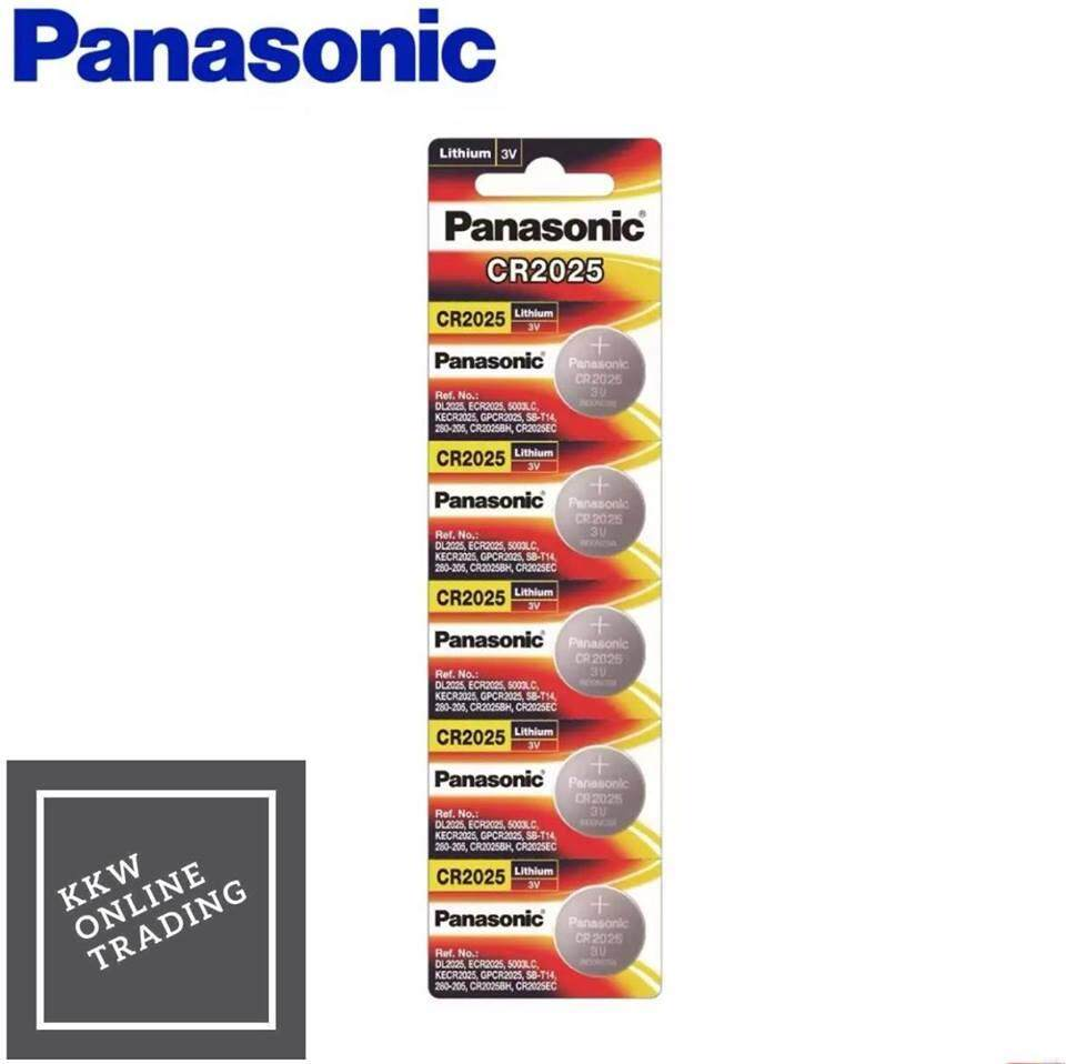 Panasonic Lithium Coin CR2025 5cells Pack Battery (Panasonic Malaysia)