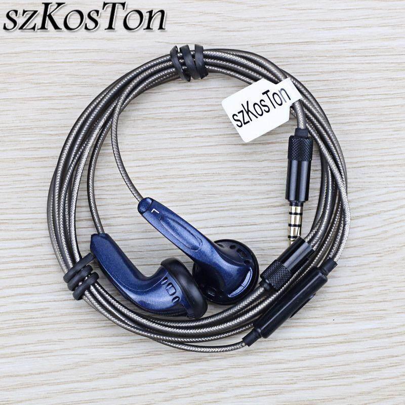 TH DIY หูฟังไฮไฟ 3.5 มม. แบนหูฟัง KMX500 แบบไดนามิก Hedaset Super หูฟังพร้อมไมค์สำหรับ Xiaomi โทรศัพท์ iPhone