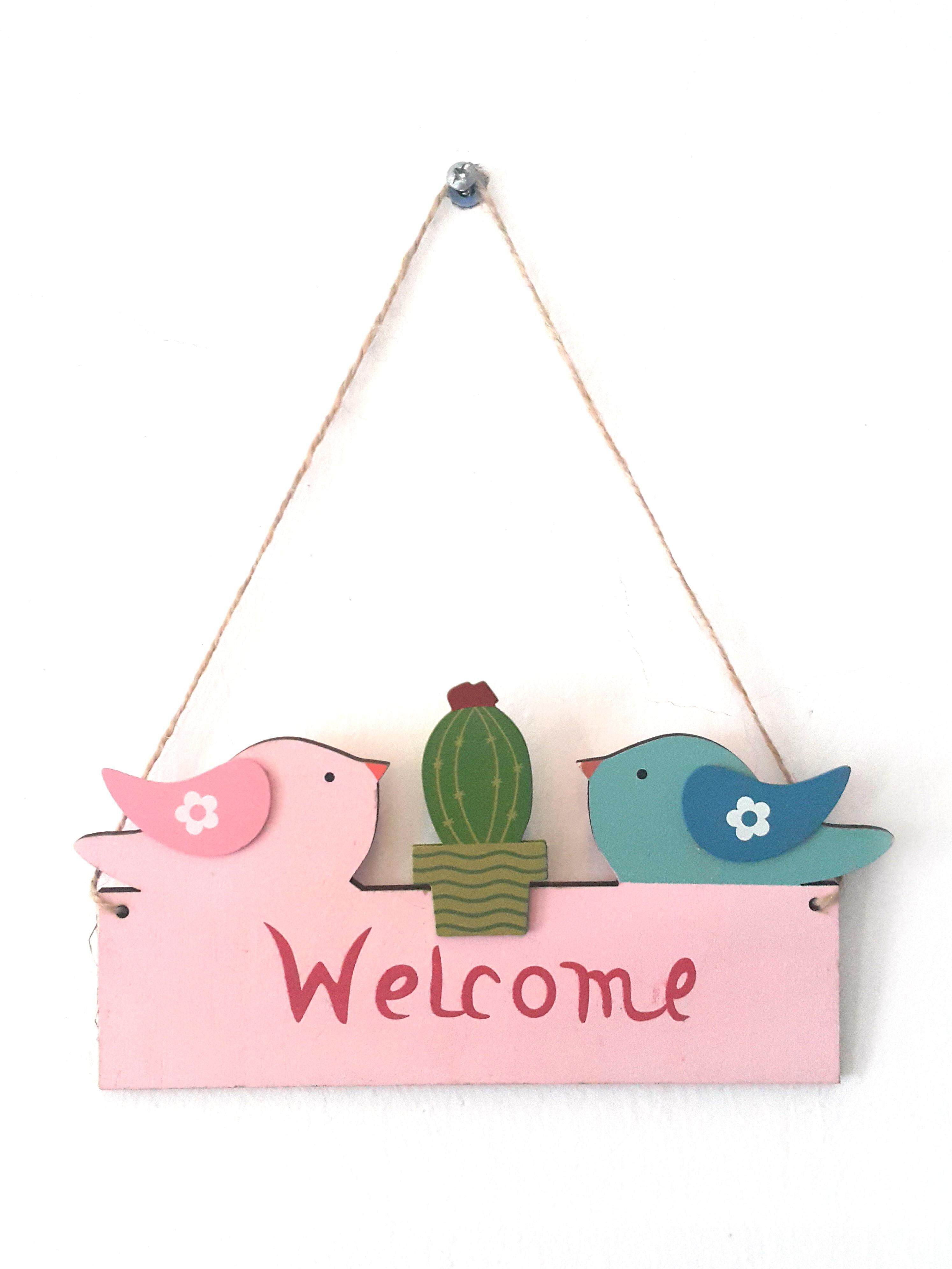 Home Welcome Decor Wooden board