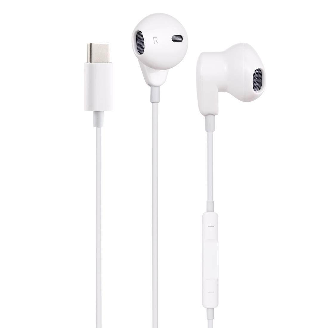 ME563-T 1.2 M หูฟังแบบใช้สาย USB-C/Type-C ชุดหูฟังพร้อมไมโครโฟน,สำหรับ Huawei, xiaomi และสมาร์ทโฟนอื่นๆกับ USB-C/อินเทอร์เฟซ Type-C (สีขาว)