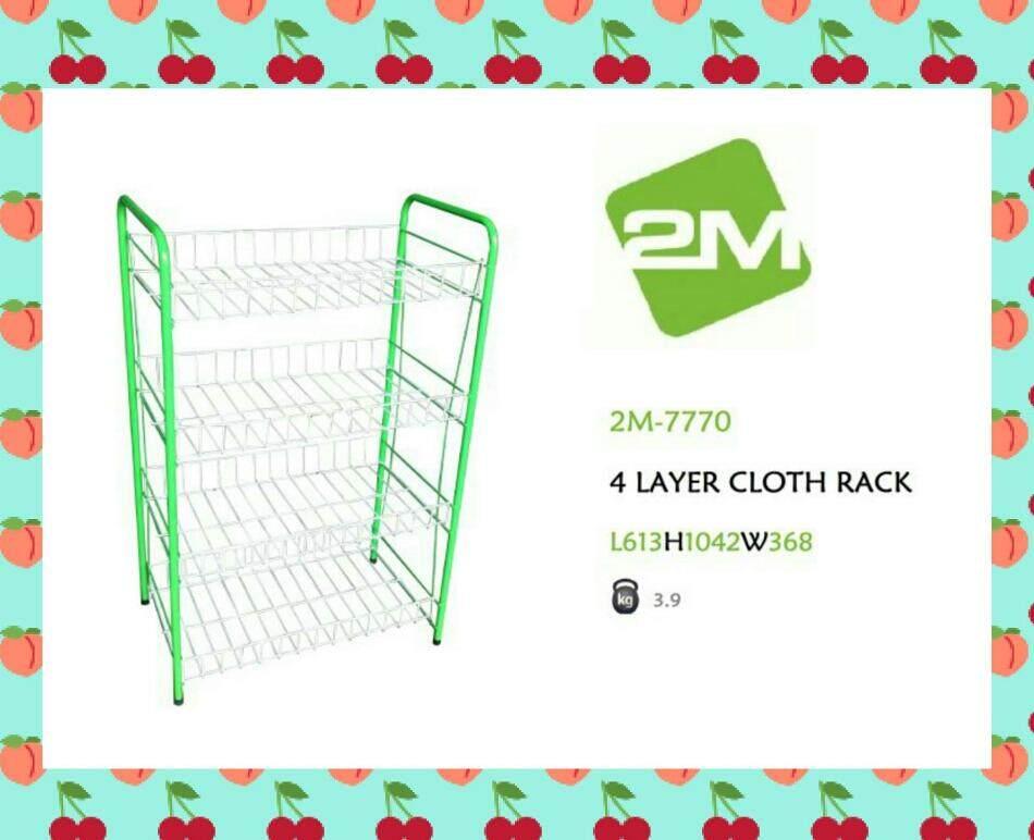 4 layer cloth rack / Rak pakaian 4 tingkat / Rak baju 4 tinggi DIY 2M-7770