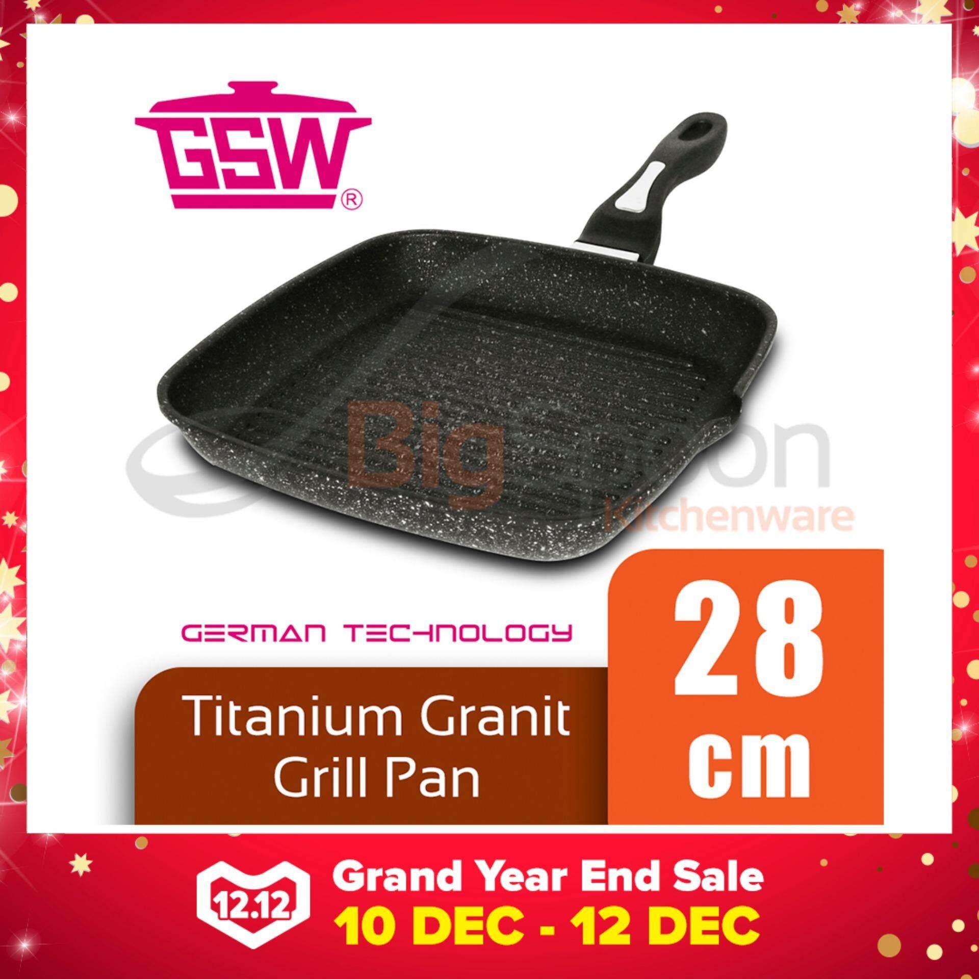 GSW Titanium Granit FerroTherm Grill Pan 28cm