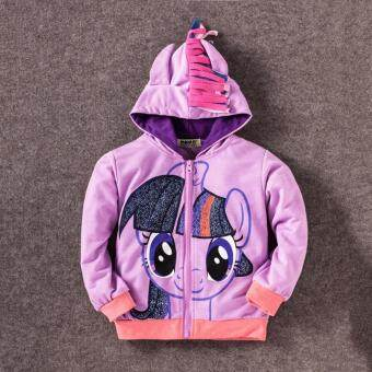 Harga 0-8Y Girls Kids Children Hoodie My Little Pony Wings SweatshirtCoat Jacket, Purple Twilight Sparkle