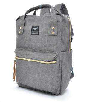 100 % Authentic Anello Polyester Square Backpack - Grey