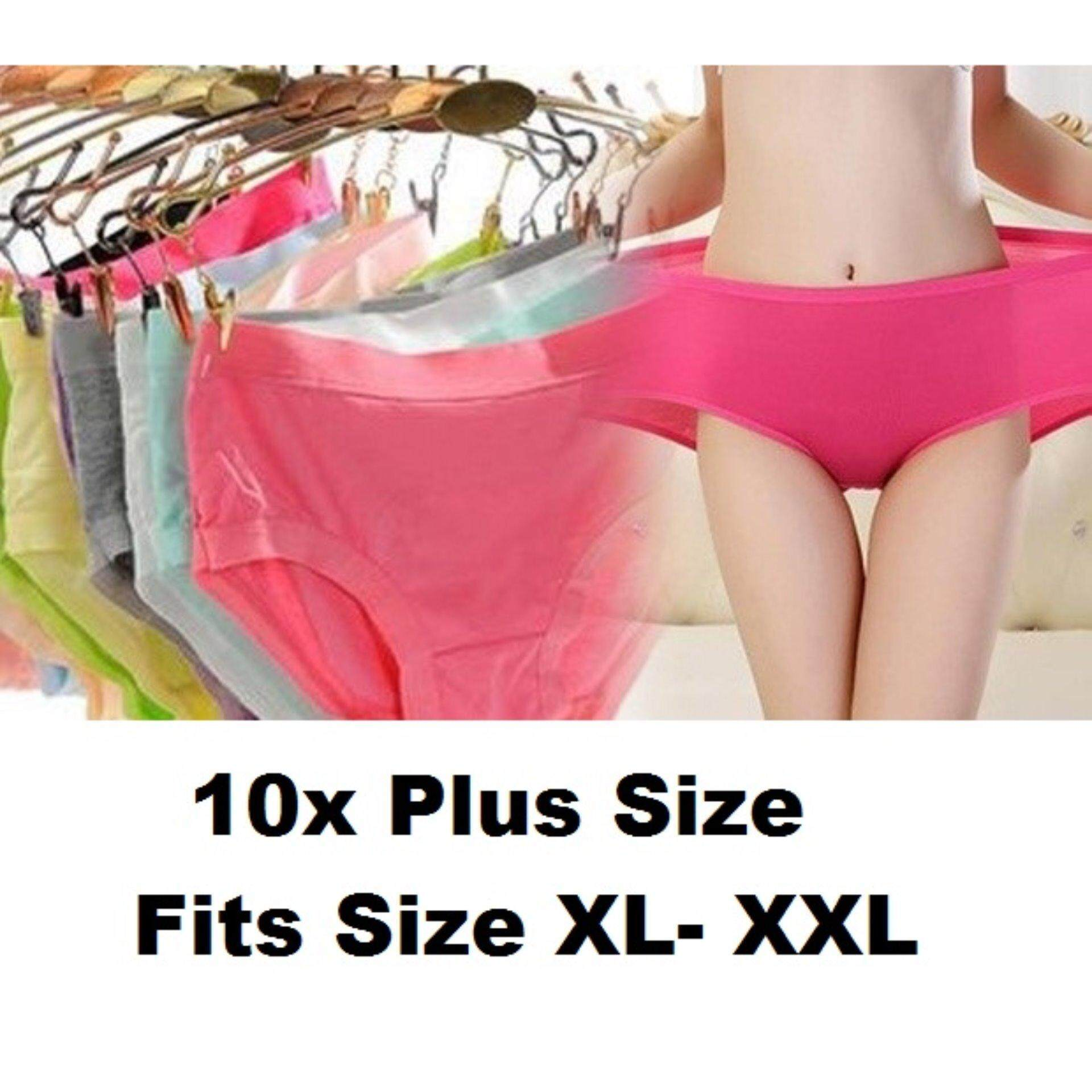 10x PLUS SIZE (XL-XXL) Super Stretchable Soft Bamboo Anti-odour Panties Underwear - 100% Lowest in Malaysia - FREE SHIPPING- Clearance Below Cost