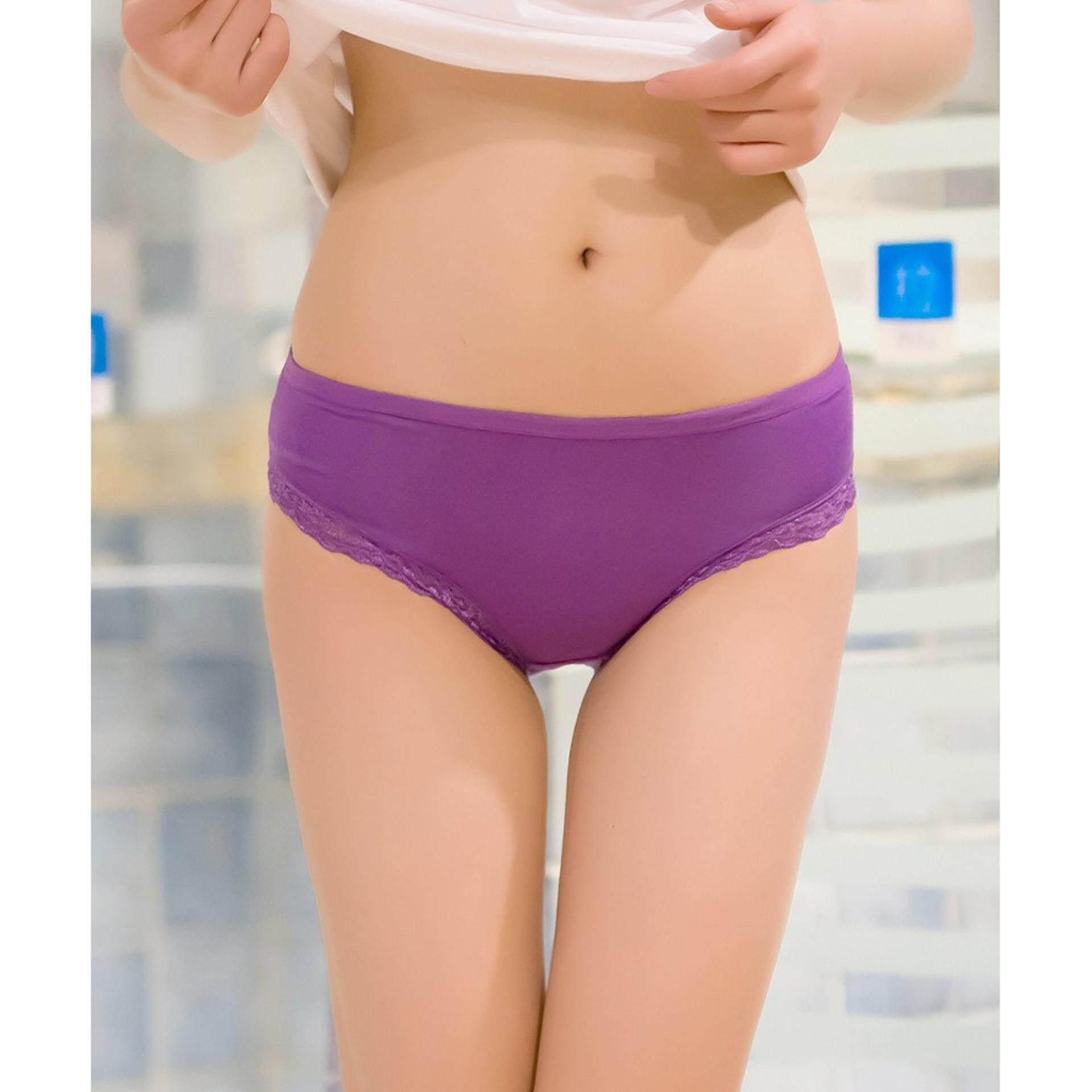 15c2ab363 10x Super Stretchable Soft Bamboo Anti-odour Lace Panties-LOWEST PRICE  CLEARANCE SALE