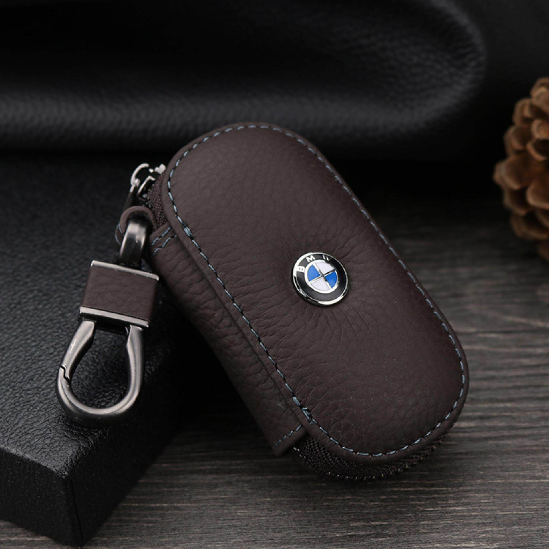1Pc Leather Key Wallet Car Key Case For For Bmw E90 F10 F30 E34 F20 X5 E53 E30 X6 X1 X3 E46 E39 Coffee Intl Diskon Akhir Tahun