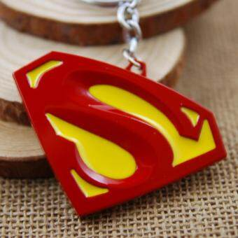 Harga 1pcs Movie Key Chain Superman Red Color Logo Keychain Men Gift Key Chain Key Holder(OVERSEAS)