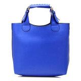 (RAYA 2019) 2-in-1 Vintage PU Leather Shoulder Bag and Handbag Handbeg Wanita - Blue