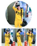 ขาย 2 Pieces Korean Fashion Loose Type Casual Suits Trousers Long Sleeved Hoodies Thin Soft Sportswear Sweaters Color Yellow Kisnow ถูก