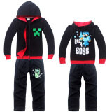 2 Pieces Minecraft Boys 4 14 Years Old Fashion Pant Thin Cotton Sweaters Color Black Creeper ถูก