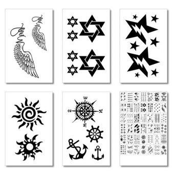 Harga 20 Pack Temporary Tattoos Paper Removable Body Art Makeup for Women& Men
