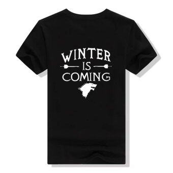 Harga 2016 New Hot Ladies The Games of Thrones Winter is Coming StrongWomen T-shirts Short-sleeve Game Female T shirt
