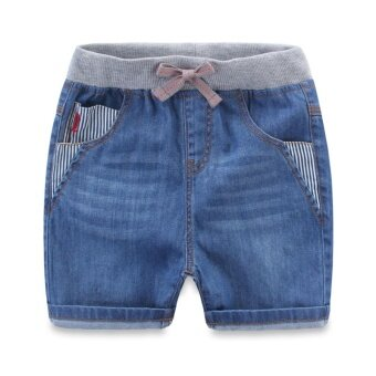 2016 Summer New style boys denim shorts children's clothing elasticwaist Pants children's baby casual wild shorts