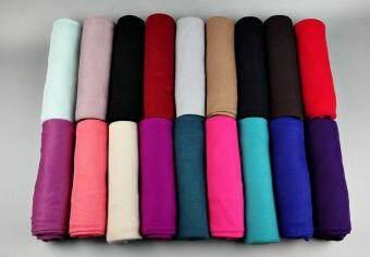 21 color High quality jersey scarf cotton plain elasticity shawls maxi hijab long muslim head wrap