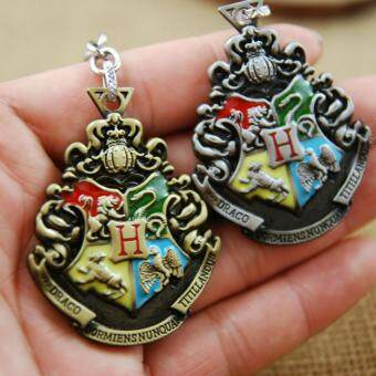 Harga 2pcs Harry Potter Movie College Logo Key Chain Keyring KeychainFashion Chaveiro Llavero Key Ring Key Holder