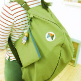 3-Way Foldable Bag with Carrying Pouch - Green