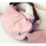 3-Way Foldable Bag with Carrying Pouch - Light Pink