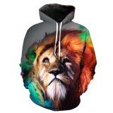 ราคา 3D Men S Unisex Fashion Digital Print Casual Hooded Sweaters Color First Pic ถูก