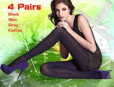 ราคา 4 คู่ของผู้หญิง บางถุงน่อง Upshift Bottoming ป้องกันตะขอไม่มีร่องรอยกางเกงขาสั้นผ้าไหมถุงเท้า สี ดำ ผิว กาแฟ สีเทา Unbranded Generic จีน