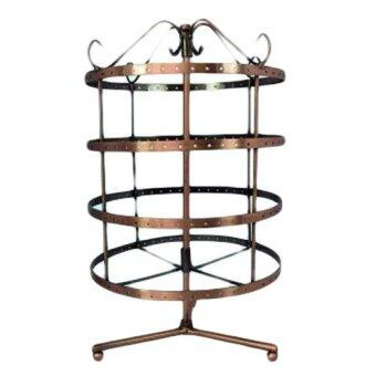 Harga 4-Tier Copper Rotatable Earring Stand (Round)