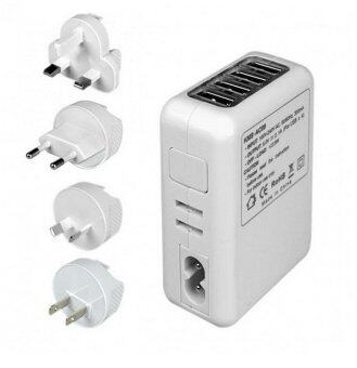 4 USB Ports AC Universal Travel Wall Adaptor Charger with 4 AC