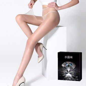 Harga 5D Ultra-thin Crystal Socks, Don't hook Silk Thin Pantyhose, SkinColor